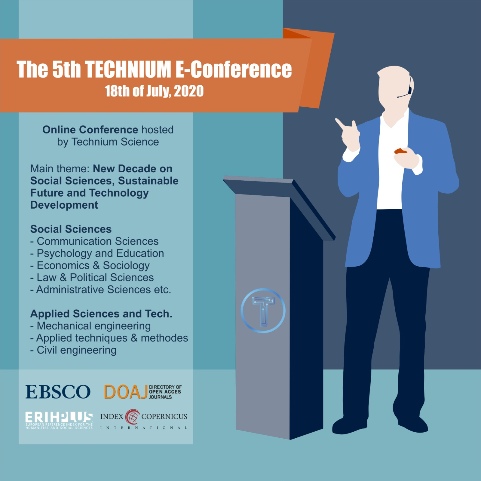 View Vol. 5 (2020): The 5th TECHNIUM International Conference